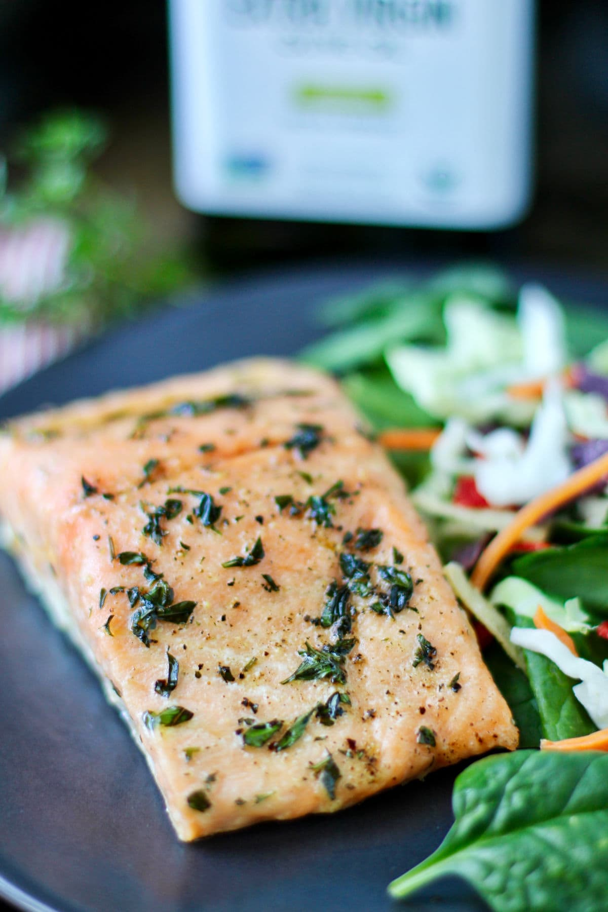 Slow Roasted Salmon with Garlic Butter and Herbs