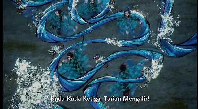 Pernafasan Air Teknik Ketiga : Tarian Arus Cepat (San no kata: Ryuryu nau)