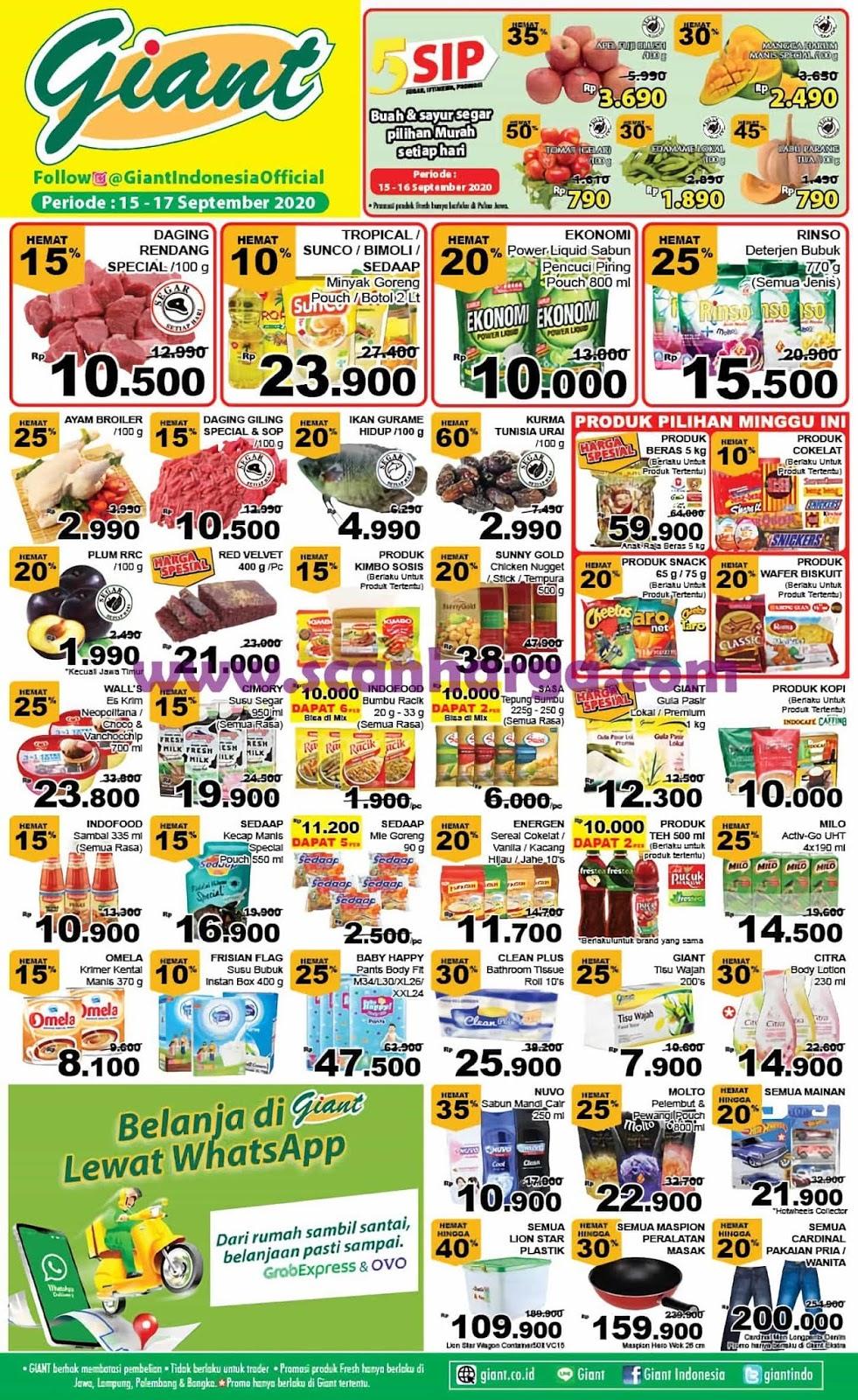 Katalog Promo Giant Weekday Terbaru 15 - 17 September 2020