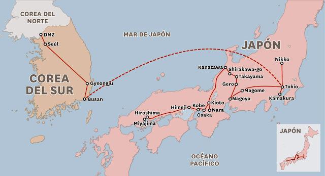 Resultado de imagen para MAPA COREA NORTE Y JAPON