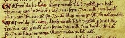 South Pool in the Domesday Book