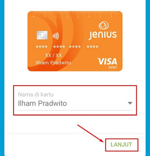 Nama Debit Card Jenius