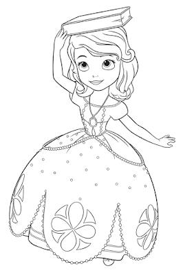 Gambar Mewarnai Putri Sofia - 7