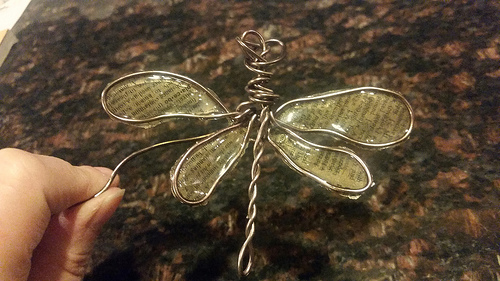 Wire and Resin Dragonfly by Tanya Ruffin for Amazing Casting Products