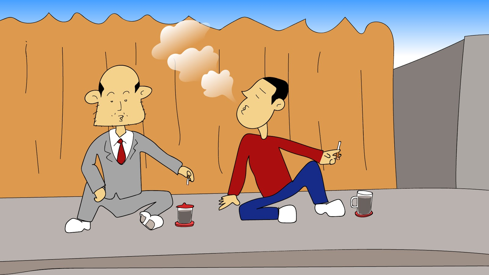 Gambar Tempat Ngopi Kartun