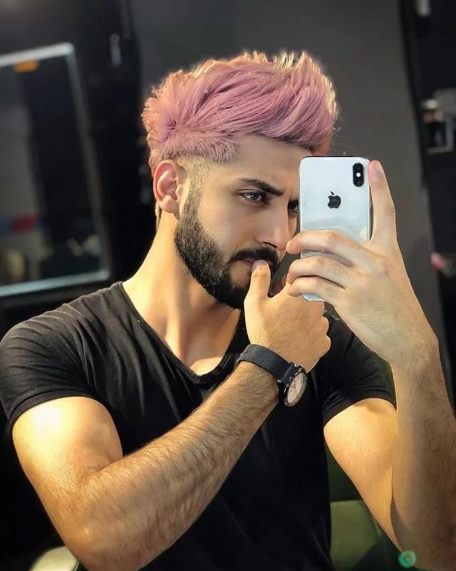 Pastel Pink Hair colour.