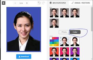 Cara Ganti Background Foto, Jadi Merah atau Biru