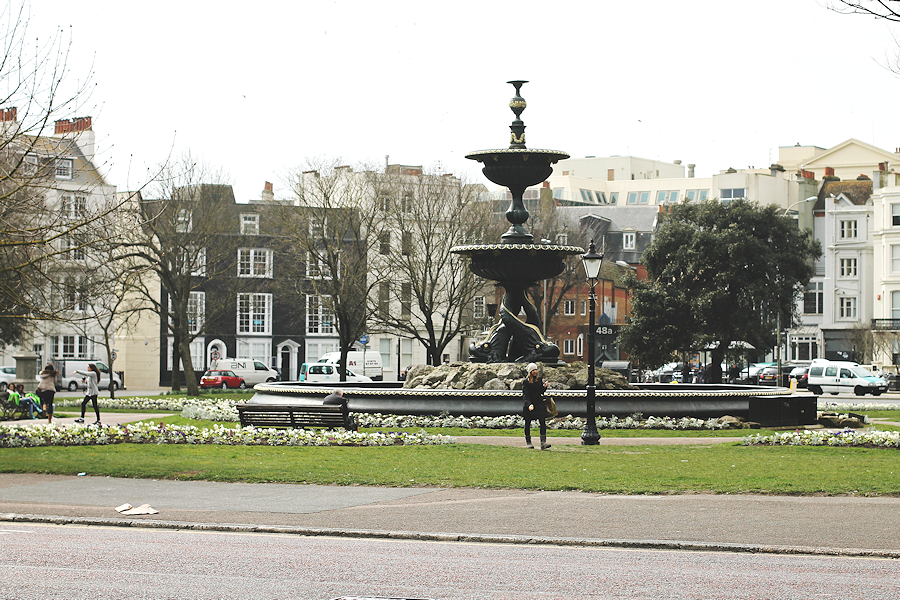 Fountain in central Brighton