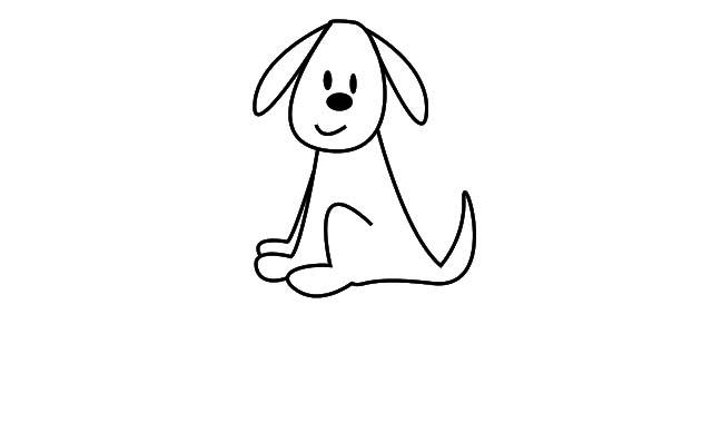 como dibujar un perro facil para niños de preescolar