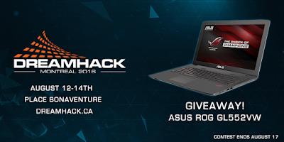 Enter the ASUS ROG Laptop Giveaway. Ends 8/17