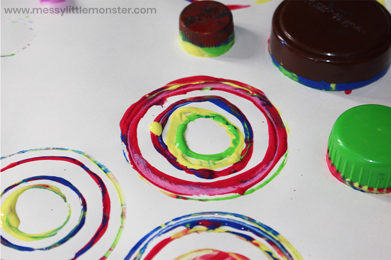 circle art process art for toddlers