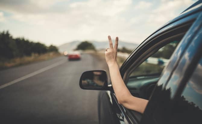 Conducir, carro, camioneta