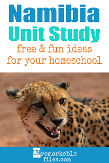 This Namibia unit study is packed with activities, crafts, book lists, and recipes for kids of all ages! Make learning about Namibia in your homeschool even more fun with these free ideas and resources. #namibia #homeschool