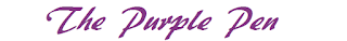 The words in purple saying The Purple Pen about editing writing
