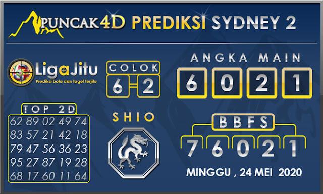 PREDIKSI TOGEL SYDNEY2 PUNCAK4D 24 MEI 2020