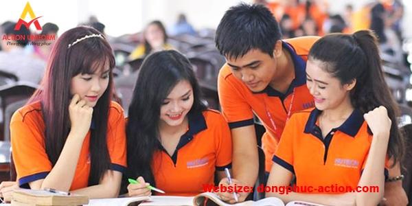 Đồng phục áo thun màu cam