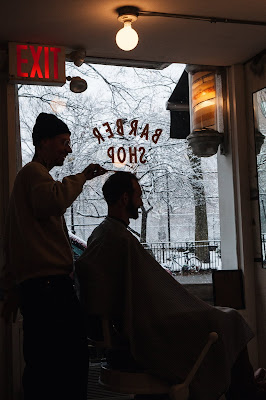 Blind Barber in the East Village