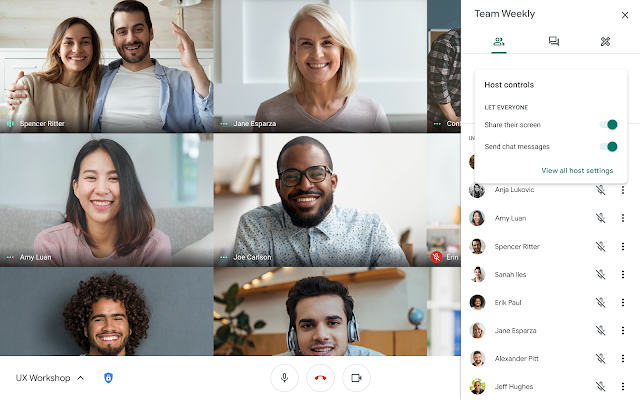 Adding present and chat Meet moderator capabilities for Google Workspace Edu users 1