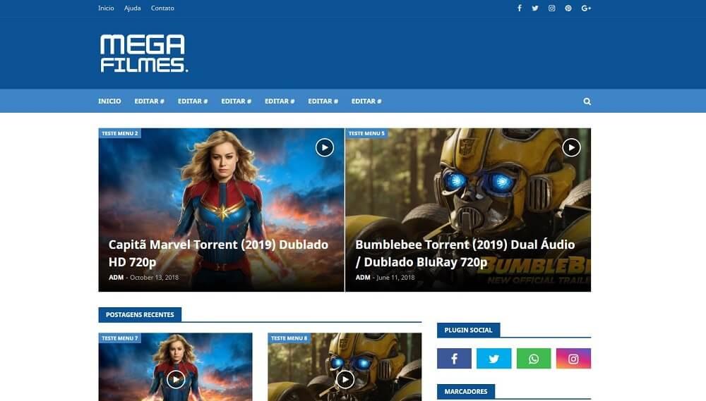 Mega Films: plantilla de blogger de películas adaptable