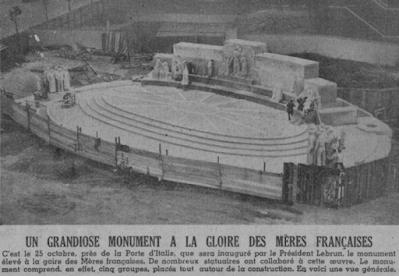 Monument en hommage aux mères françaises