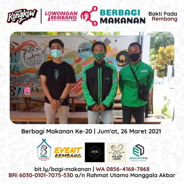 Dokumentasi Berbagi Makanan Ke-20 Dari Kedai Kongkow Rembang Dan Lowongan Rembang