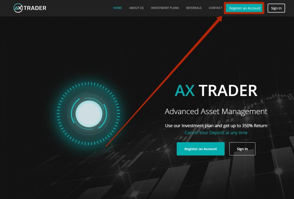 Регистрация в Ax Trader