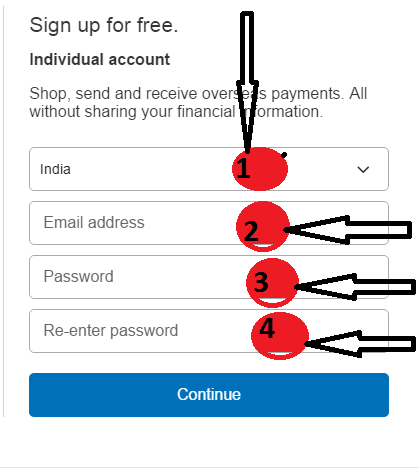 creat paypal account