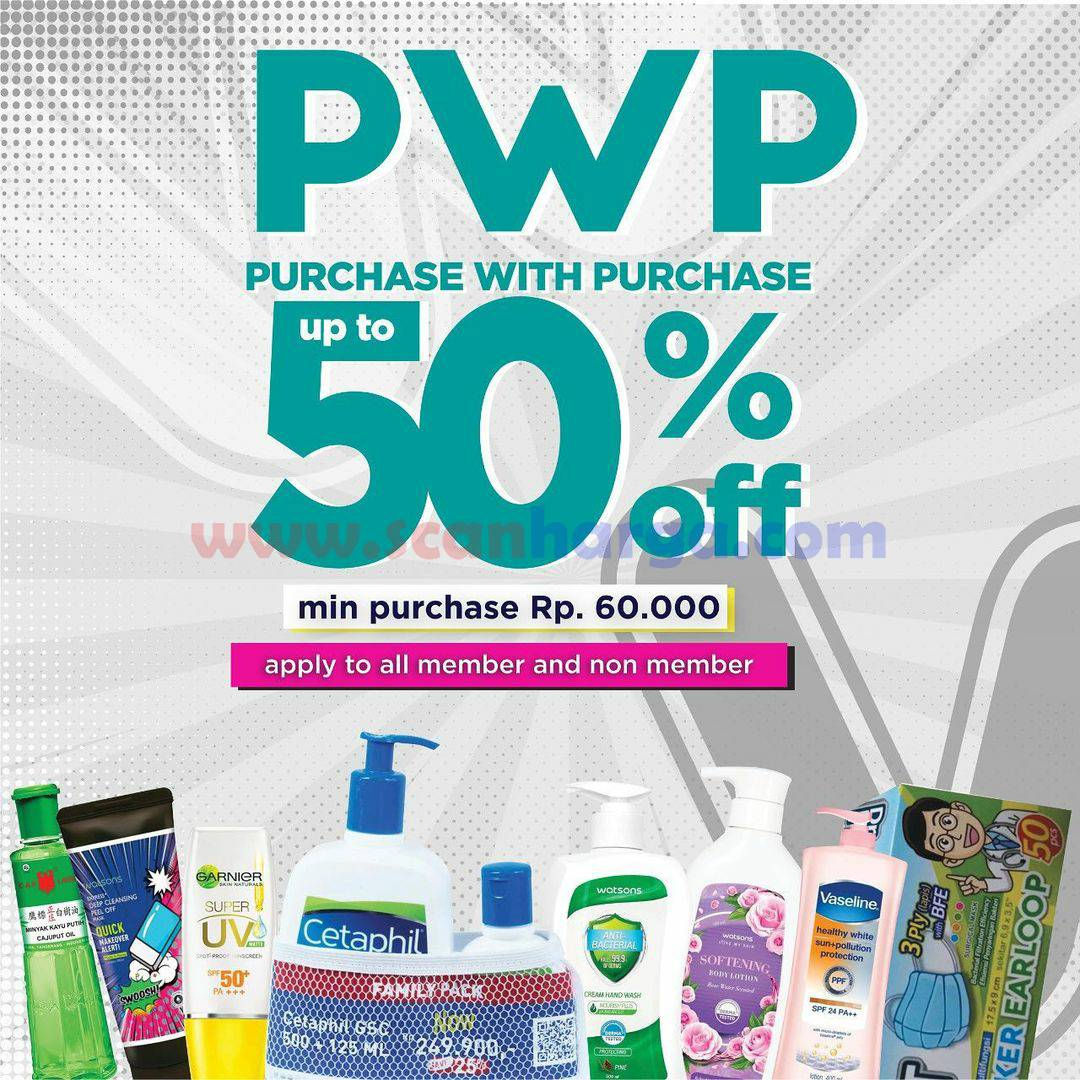 Promo Watsons PWP Purchase With Purchase Up To 50% Off