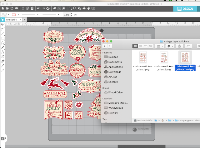 PNG files, tracing, sticker sets, auto trace, silhouette studio