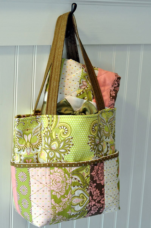Hushabye Tote Bag and Coin Quilt Free Tutorial