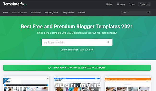 Templateify -  Situs Rekomendasi Download Template Blogger Premium dan Gratis