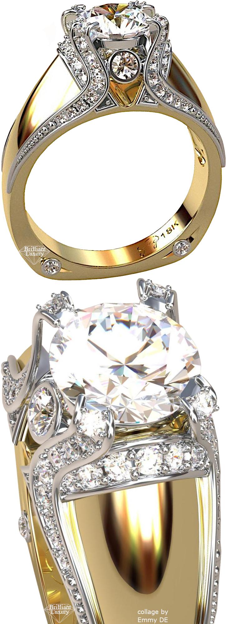 ♦Greg Neeley Italian Top Ladies Diamond 18k Bridal Ring #gregneeley #jewelry #brilliantluxury
