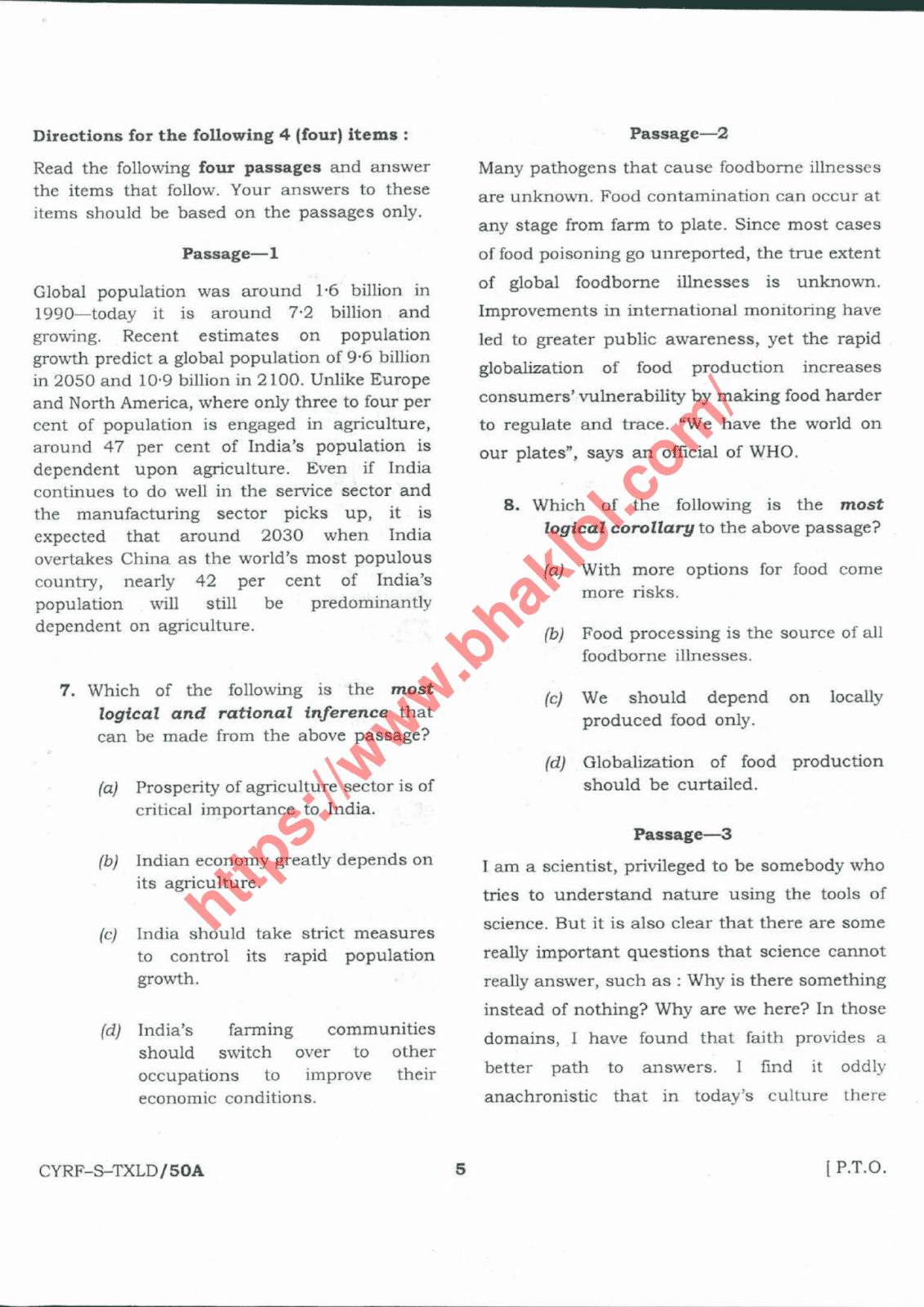 UPSC CSE(IAS) Prelims 2018 Question Paper with Answer Key