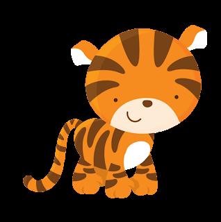 Animales tiernos para imprimir tigre