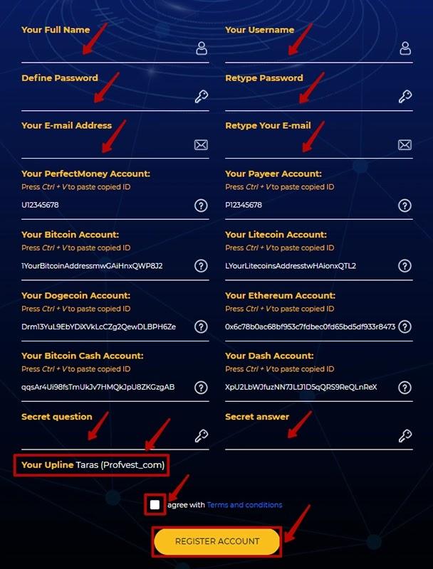Регистрация в BTC Millionaire 2