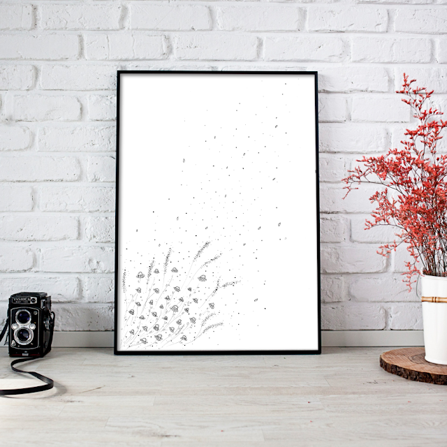 Doodle Daisies Printable Poster