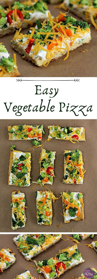 Easy Vegetable Pizza #dinnerrecipe #food