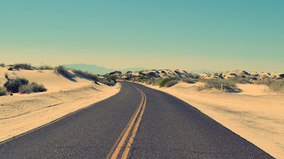 road in desert hd wallpaper