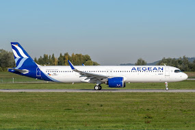 1st A321N for AegeanEO