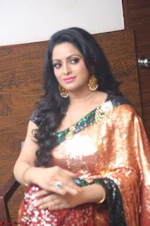 Udaya Bhanu lookssizzling in a Saree Choli at Gautam Nanda music launchi ~ Exclusive Celebrities Galleries 023.JPG