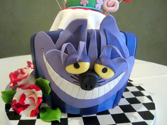 Cheshire Cat Bridal Shower Cake