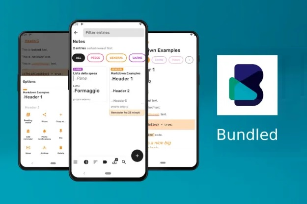 bundled notes android note taking free app
