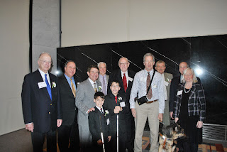 Louis Braille Award honorees group and organizers