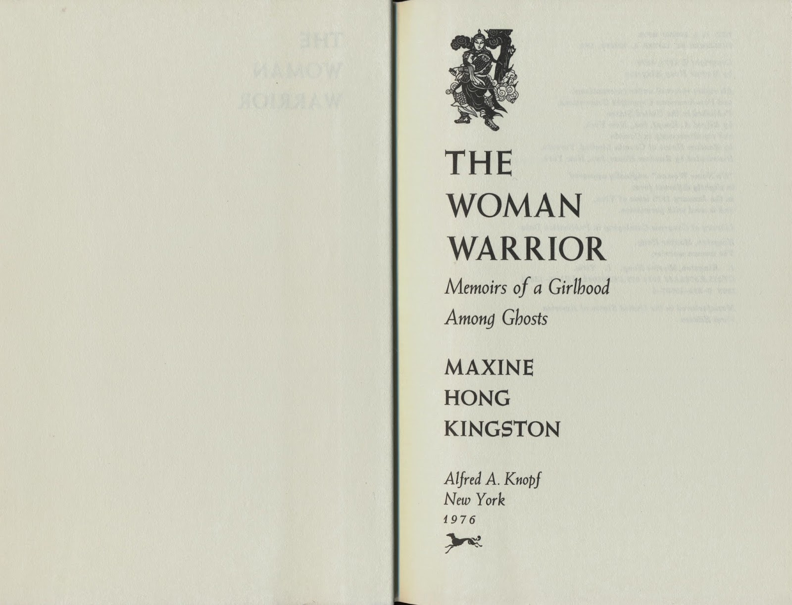 an analysis of familys cultural history in maxine hong kingstons the woman warrior memoirs of a girl In her award-winning book the woman warrior, maxine hong kingston created an as a girl, kingston lives achieving a new understanding of her family's.