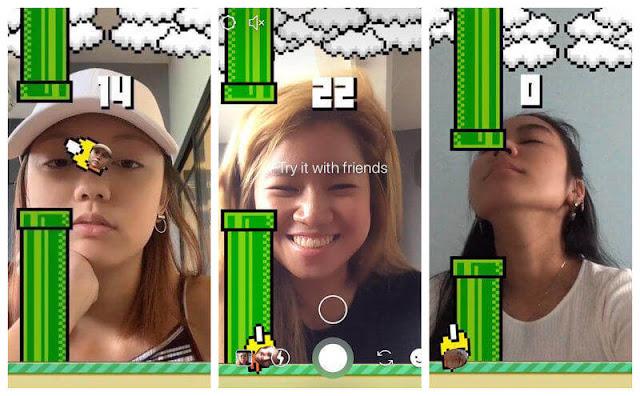 Cara Bermain Game Flappy Bird (Flying Face) di Instagram Story