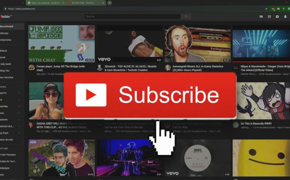 Como Hacer Animación De Suscripción Para Un Canal De YouTube
