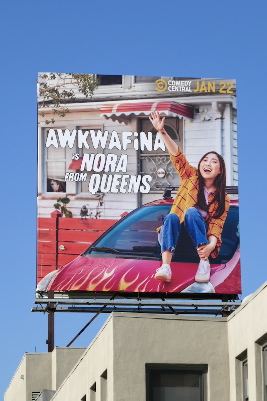 Awkwafina is Nora from Queens series premiere billboard