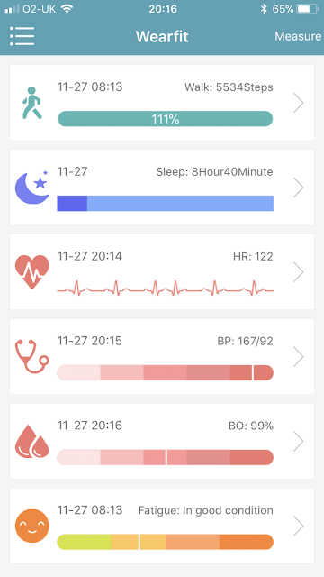 Four Fit Health band fitness watch app