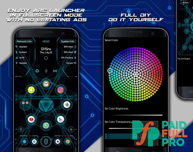 Arc Launcher Pro HD Themes Wallpapers Booster Patched APK