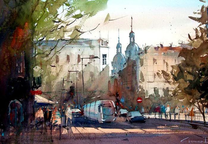Акварельные рисунки. Eugen Chisnicean 17